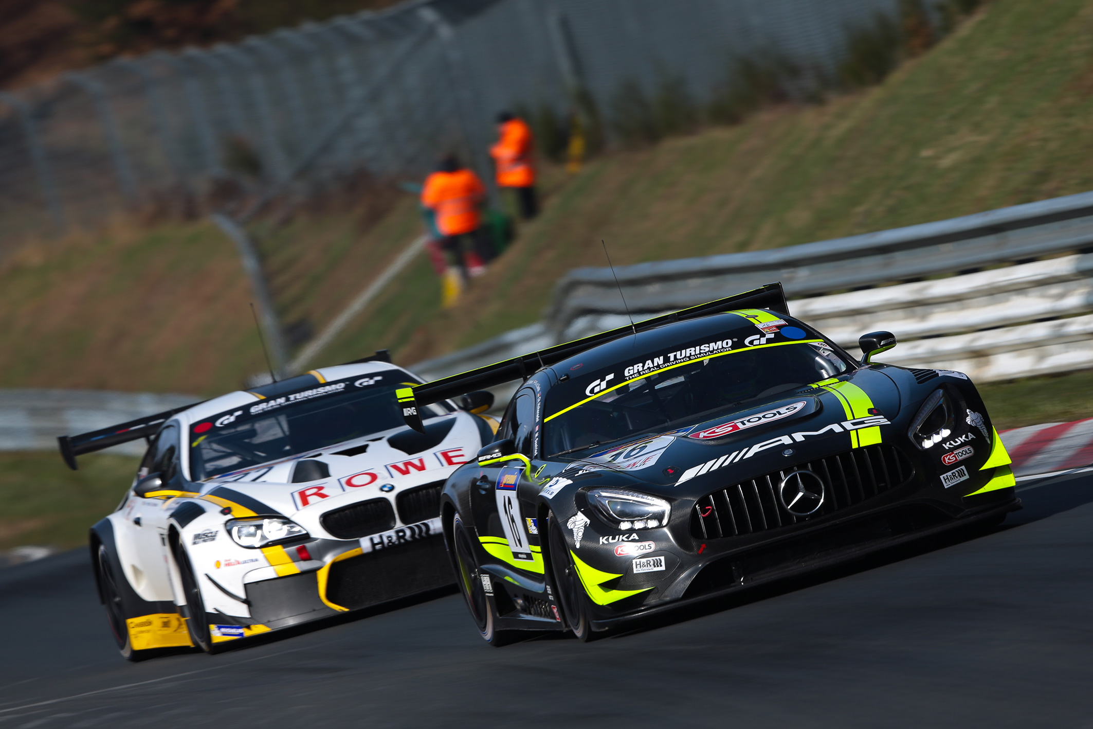 HTP-Mercedes-AMG_ROWE-BMW-M6_Nordschleife