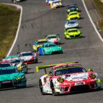 Porsche-Dreifachführung zur Rennhalbzeit